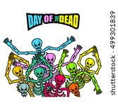 day of the dead multicolored... | Shutterstock .eps vector #499301839
