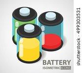 isometric icon. battery