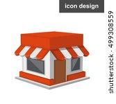vector icon of modern shop | Shutterstock .eps vector #499308559