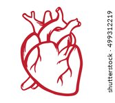 heart vector icon hand drawn... | Shutterstock .eps vector #499312219
