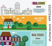 real estate horizontal banners. ...   Shutterstock .eps vector #499312525