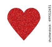 Glittering Red Heart Shape...