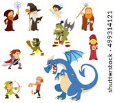 fairy tale characters. fantasy... | Shutterstock .eps vector #499314121