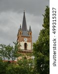 bistrita  bistritz evangelical... | Shutterstock . vector #499315327