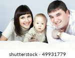 happy family home  father ... | Shutterstock . vector #49931779