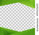 green geometric frame for... | Shutterstock .eps vector #499323655