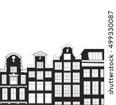black and white house | Shutterstock .eps vector #499330087