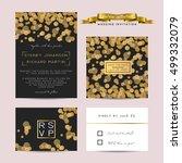 elegant wedding set with rsvp...   Shutterstock .eps vector #499332079
