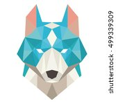 dog head symbol. isolated wolf... | Shutterstock .eps vector #499339309