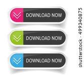 download now button set   Shutterstock .eps vector #499340875