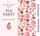 tea party invitation | Shutterstock .eps vector #499341151