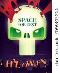 poster for halloween.bright...   Shutterstock .eps vector #499342255