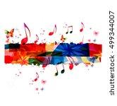 Creative Music Template Vector...