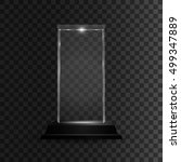Glass Shining Trophy. Isolated...