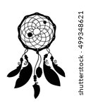 hand drawn dreamcatcher... | Shutterstock .eps vector #499348621