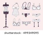 lingerie set | Shutterstock .eps vector #499349095