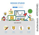 linear flat design studio... | Shutterstock .eps vector #499350481