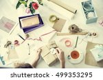 gift packing present creative... | Shutterstock . vector #499353295