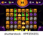 cartoon halloween game elements....