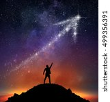 star arrow upwards | Shutterstock . vector #499356391