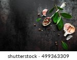 dark vintage metal culinary... | Shutterstock . vector #499363309