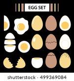 chicken eggs. roasted  boiled ... | Shutterstock .eps vector #499369084