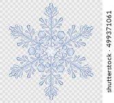 big translucent crystal...   Shutterstock .eps vector #499371061