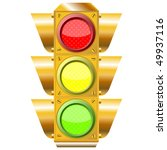 cross road traffic lights over...