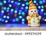 christmas funny decorative... | Shutterstock . vector #499374199