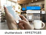 chat bot and future marketing... | Shutterstock . vector #499379185