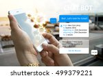 chat bot and future marketing... | Shutterstock . vector #499379221