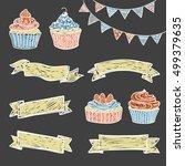 vector illustration  hand drawn ... | Shutterstock .eps vector #499379635