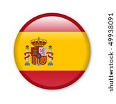 spain   glossy button with flag | Shutterstock . vector #49938091