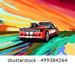 american 70s customized muscle... | Shutterstock . vector #499384264