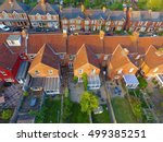 aerial view of garden and roof... | Shutterstock . vector #499385251