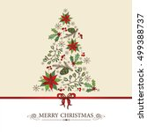 holiday and new year tree with... | Shutterstock .eps vector #499388737