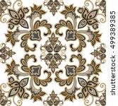 floral seamless pattern. arabic ... | Shutterstock .eps vector #499389385