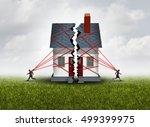 broken family after a bitter... | Shutterstock . vector #499399975