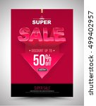 super sale poster discount up... | Shutterstock .eps vector #499402957