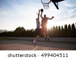 two basketball players on the... | Shutterstock . vector #499404511