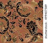 paisleys floral elegant vector...   Shutterstock .eps vector #499407589