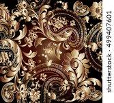 paisleys floral elegant vector... | Shutterstock .eps vector #499407601