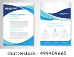 vector brochure flyer design... | Shutterstock .eps vector #499409665