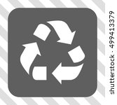 recycle rounded button. vector... | Shutterstock .eps vector #499413379