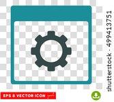 vector gear options calendar...   Shutterstock .eps vector #499413751