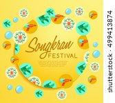 songkran festival   thai water... | Shutterstock .eps vector #499413874