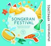songkran festival   thai water... | Shutterstock .eps vector #499413901
