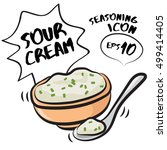 sour cream   food illustration  ...