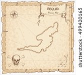 bequia old pirate map. sepia... | Shutterstock .eps vector #499420165