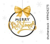 vector christmas poster with... | Shutterstock .eps vector #499424275